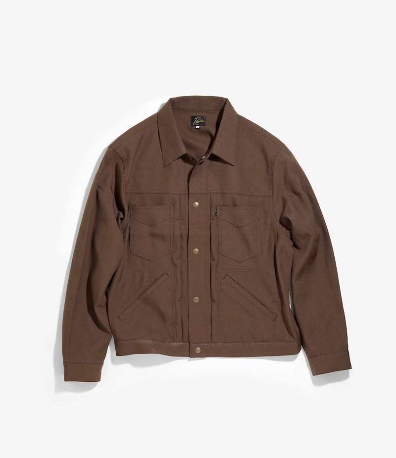Needles Penny Jean Jacket - Poly Twill - Brown