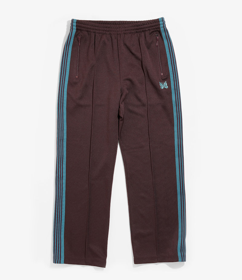 Needles Track Pant - Poly Smooth - Bordeaux