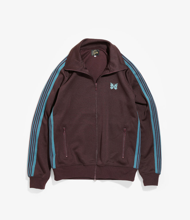 Needles Needles Track Jacket - Poly Smooth - Bordeaux