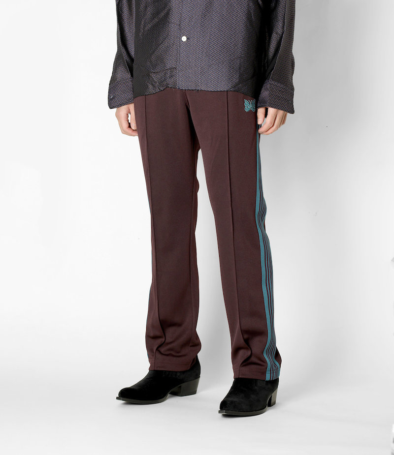 Needles Narrow Track Pant - Poly Smooth - Bordeaux