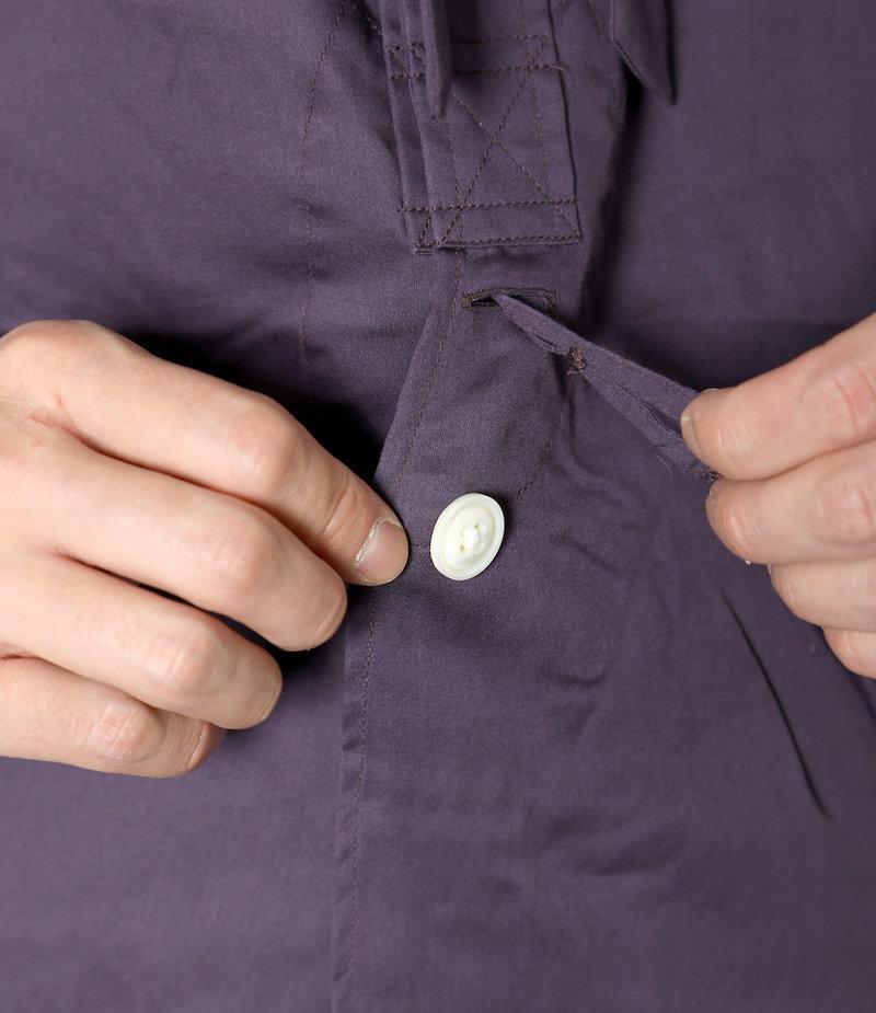 Needles Ascot Collar EDW Gather Shirt - Cotton Sateen - Purple