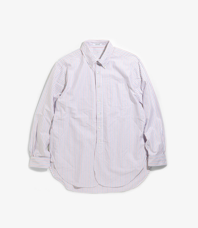 Engineered Garments 19 Century BD Shirt - White/Blue/Red Oxford Candy Stripe