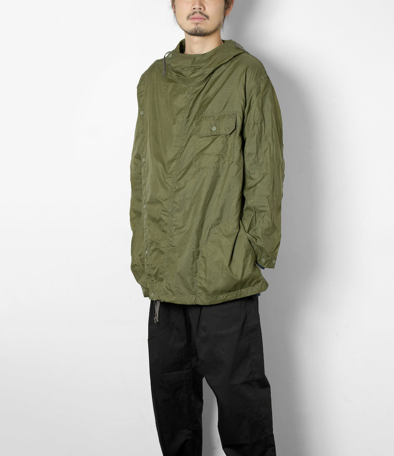 Engineered Garments Sonor Shirt Jacket - Olive Nylon Micro Ripstop
