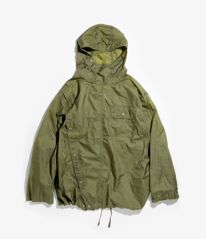 Engineered Garments Sonor Shirt Jacket - Olive Nylon Micro Ripstop