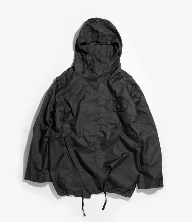 Engineered Garments Sonor Shirt Jacket - Black Nylon Micro Ripstop
