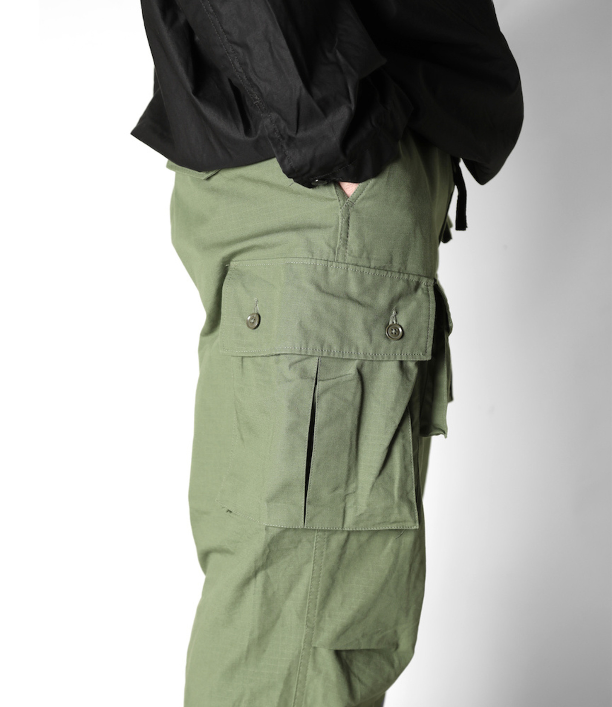 Engineered Garments FA Pant - Olive Cotton Ripstop