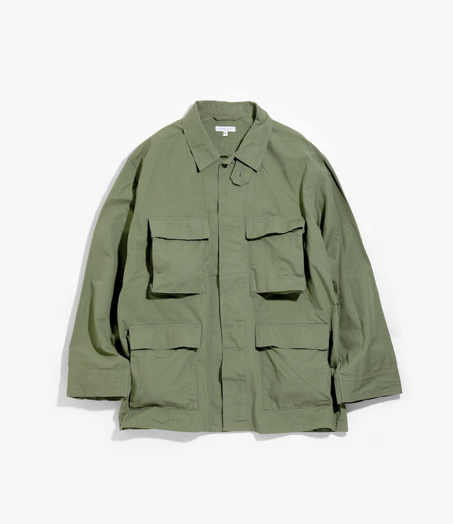 Engineered Garments BDU Jacket - Olive Cotton Ripstop