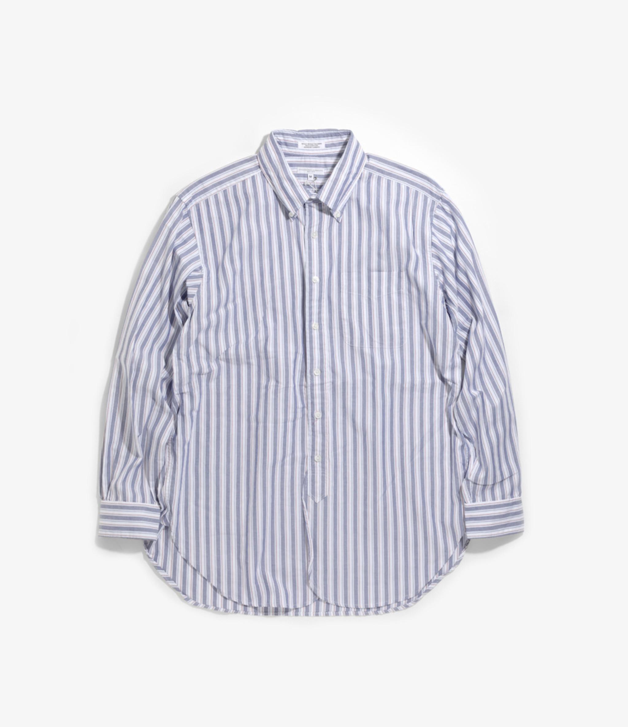 Engineered Garments 19 Century BD Shirt - White/Blue/Red Oxford Regimental Stripe