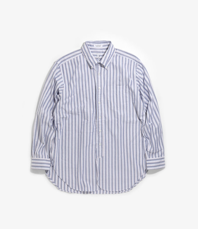Engineered Garments 19 Century BD Shirt - White/Blue/Red Oxford Regimental Stripe