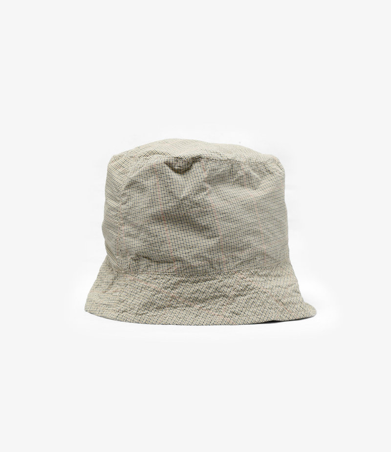Engineered Garments Bucket Hat - Khaki Nyco Mini Tattersall