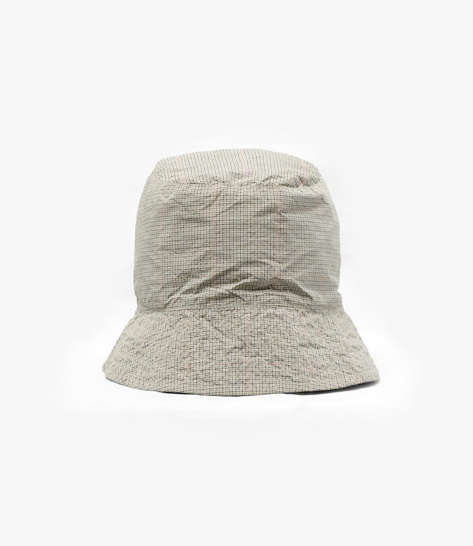 Engineered Garments EG / Bucket Hat - Khaki Nyco Mini Tattersall
