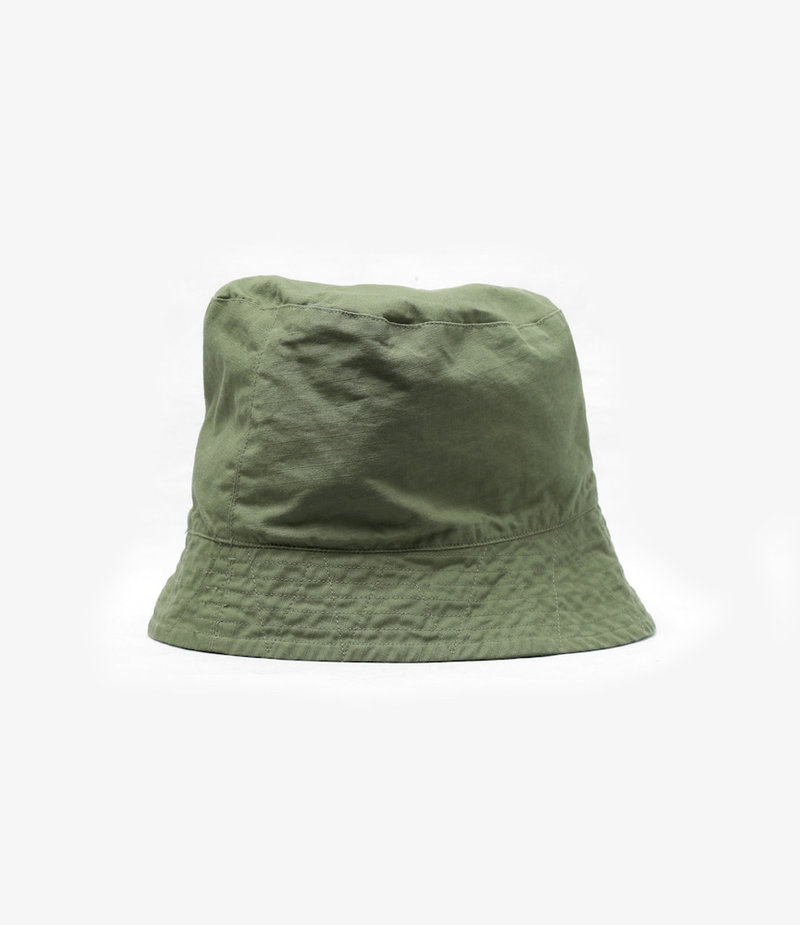 Engineered Garments Bucket Hat - Olive Cotton Ripstop