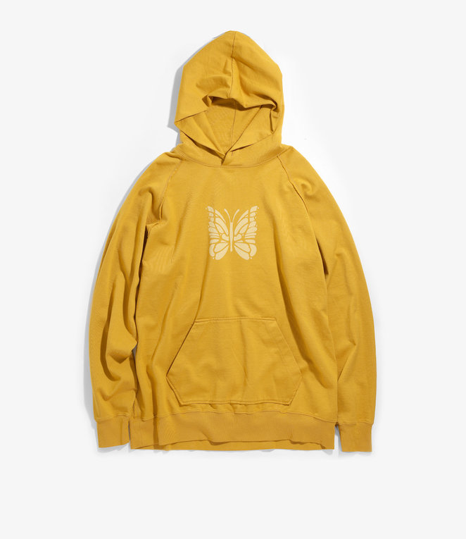 Needles Sweat Hoody - Cotton Jersey / Discharge Print - Mustard