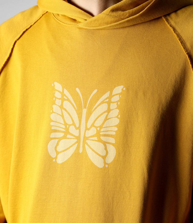 Needles Sweat Hoody - Cotton Jersey / Discharge Print - Mustard