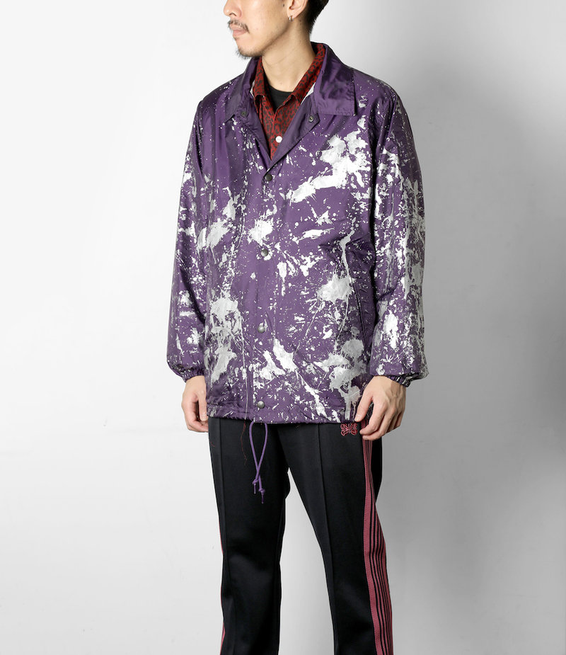 Needles Coach Jacket - Poly Taffeta / Reflective Paint - Ppl/Scatter