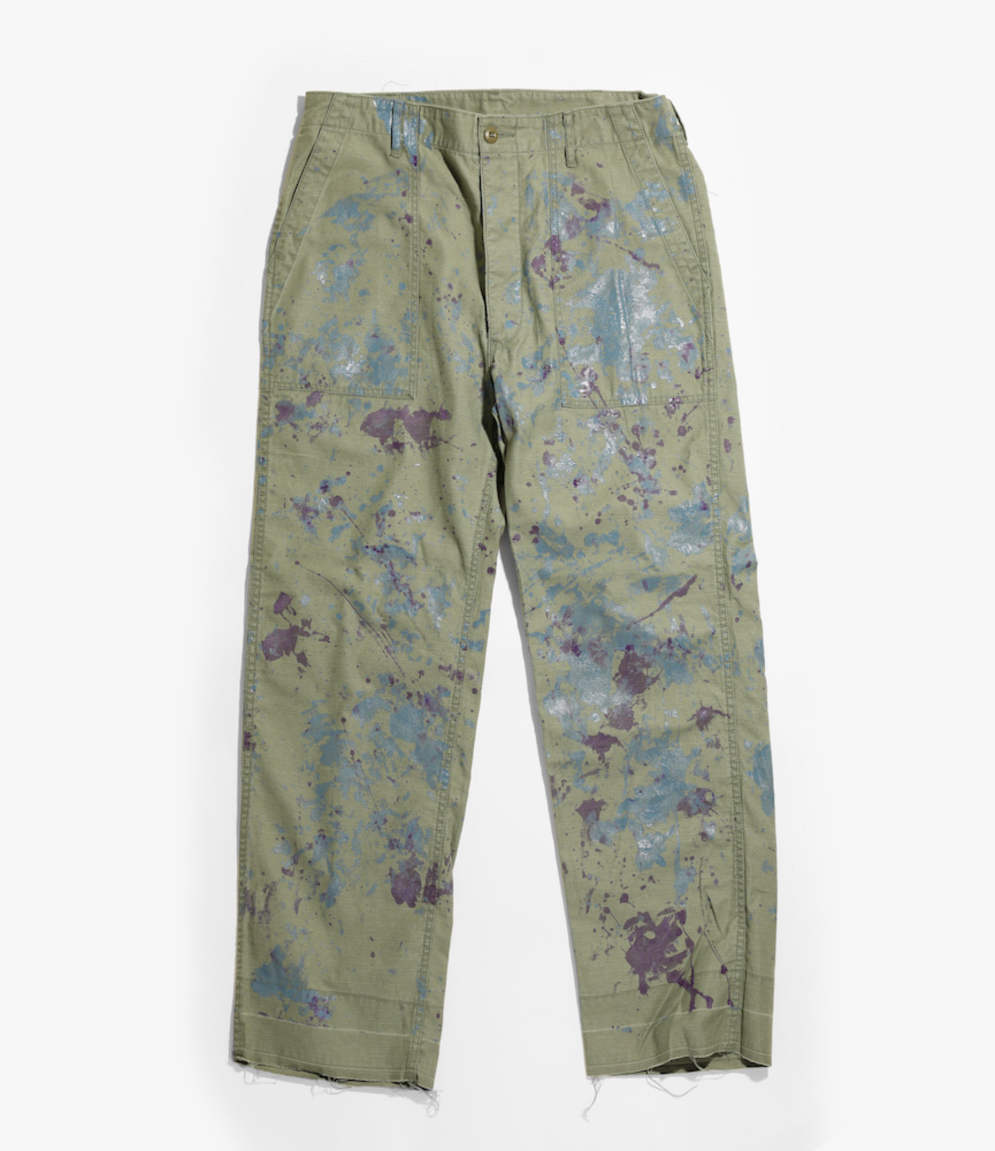 Needles Fatigue Pant - Back Sateen / Paint - Olive