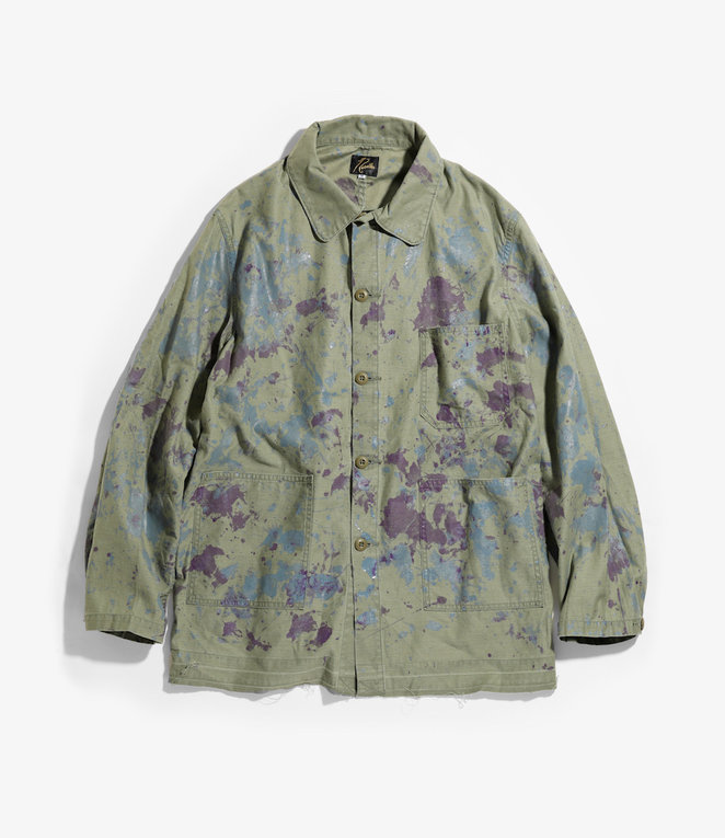 Needles D.N. Coverall - Back Sateen / Paint - Olive