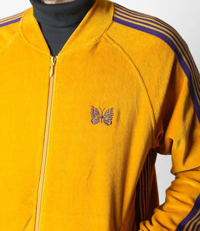 Needles Rib Collar Track Jacket - C/Pe Velour - Mustard