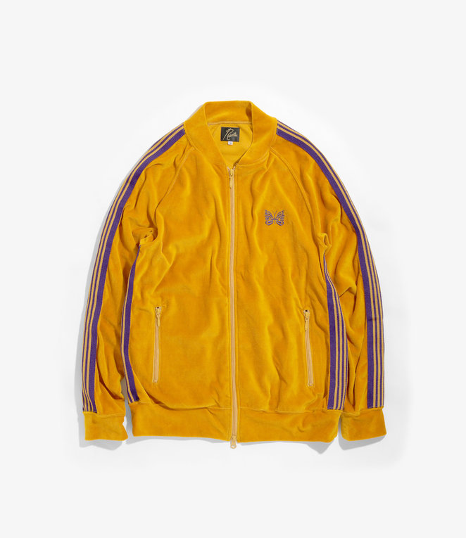 Needles Rib Collar Track Jacket - C/Pe Velour - Mustard