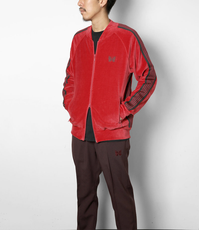 Needles Rib Collar Track Jacket - C/Pe Velour - Pink