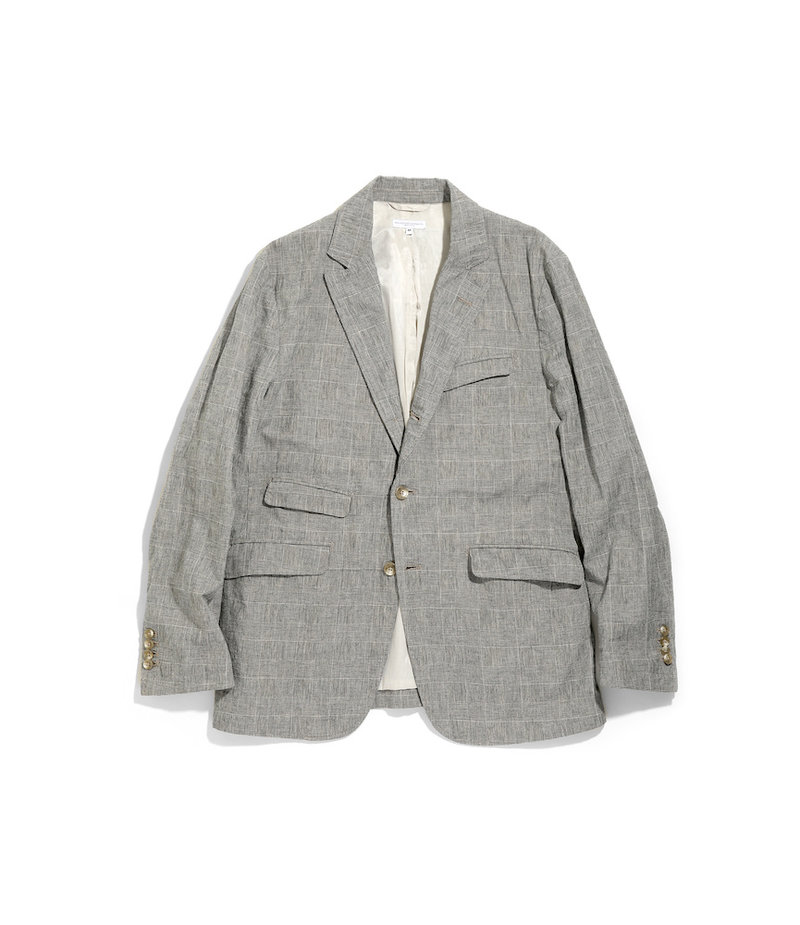 Engineered Garments Andover Jacket -  Grey CL Glen Plaid