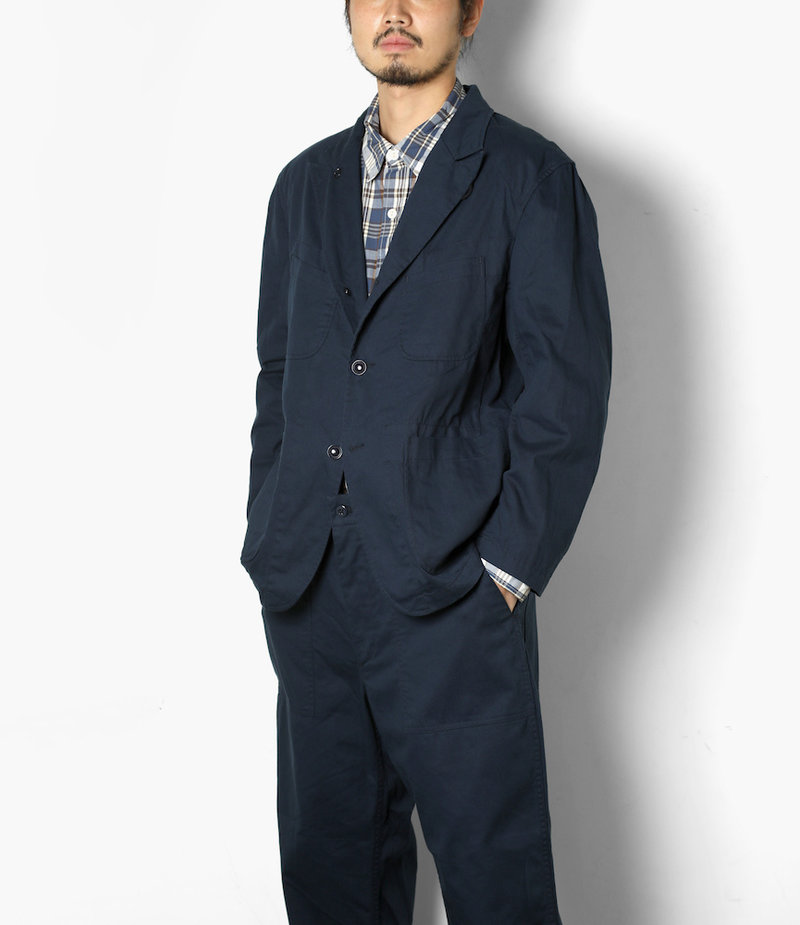 Engineered Garments Bedford Jacket - Navy 6.5oz Flat Twill