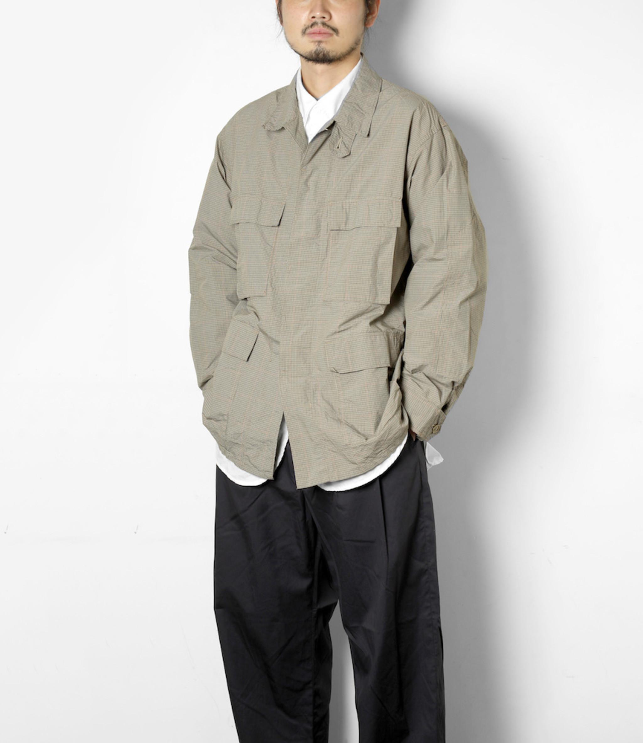 Engineered Garments BDU Jacket - Khaki Nyco Mini Tattersall