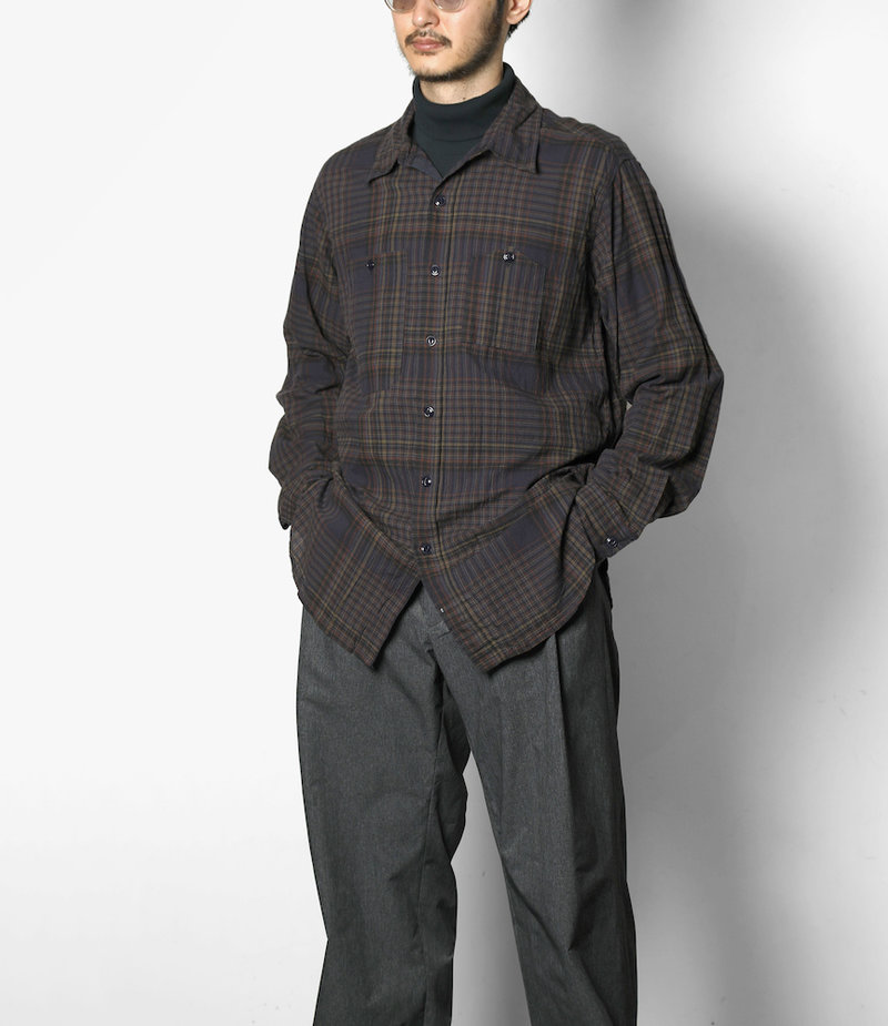 Engineered Garments Work Shirt - Dark Multi Color Madras Check