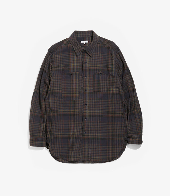 Engineered Garments Work Shirt - Dark Multi Color Madras Check