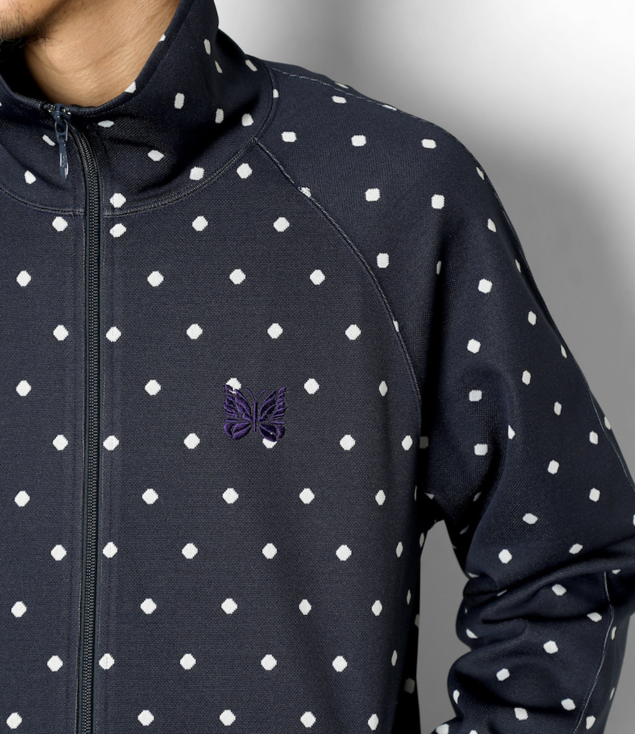 Needles Track Jacket - Poly Jacquard - Polka Dot