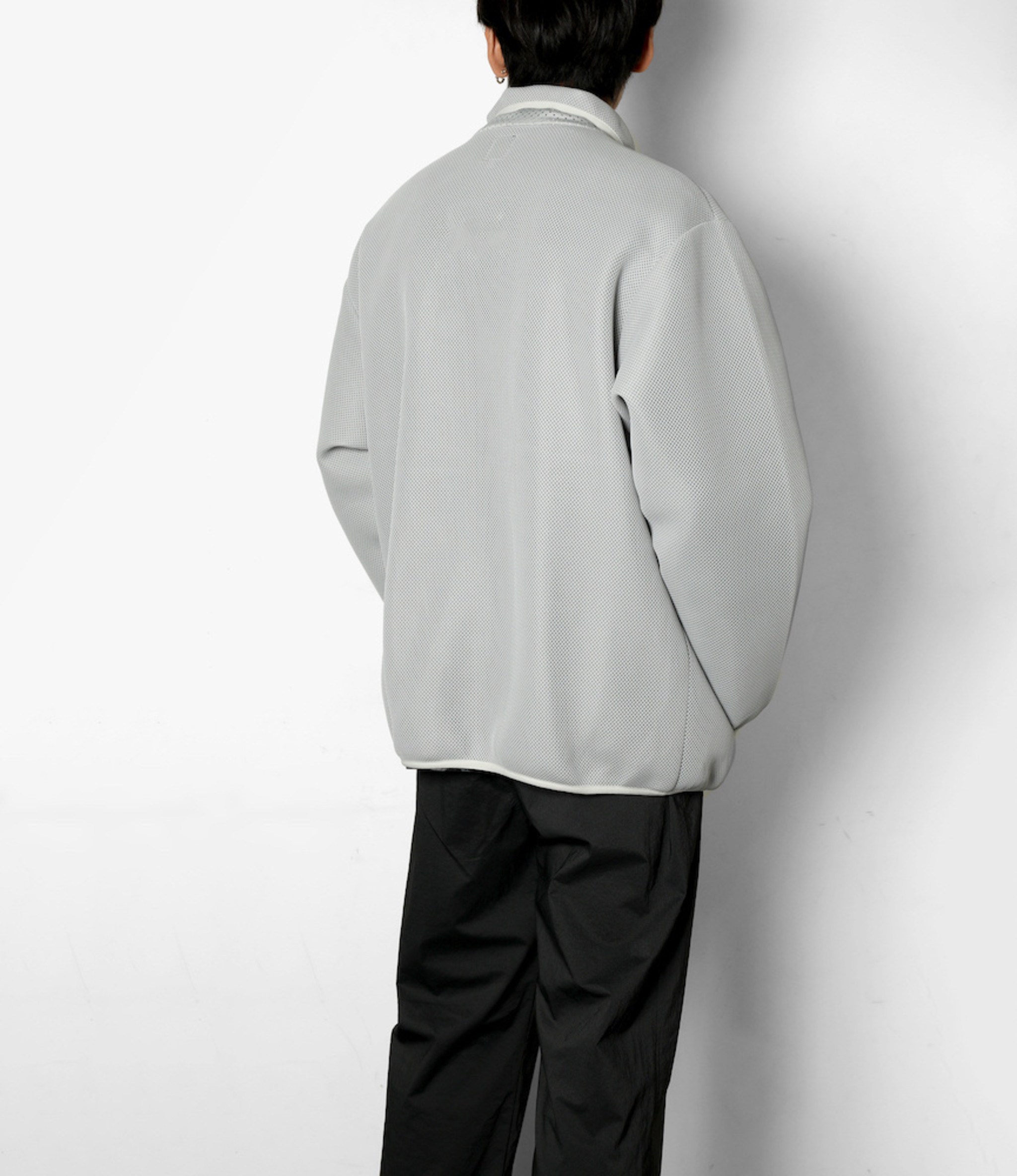 South2 West8 Piping Jacket - Poly Double Raschel Mesh - Grey