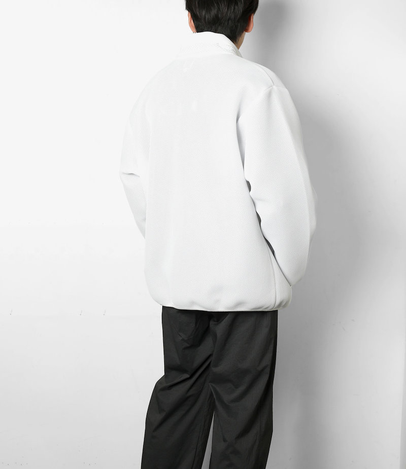 South2 West8 Piping Jacket - Poly Double Raschel Mesh - White