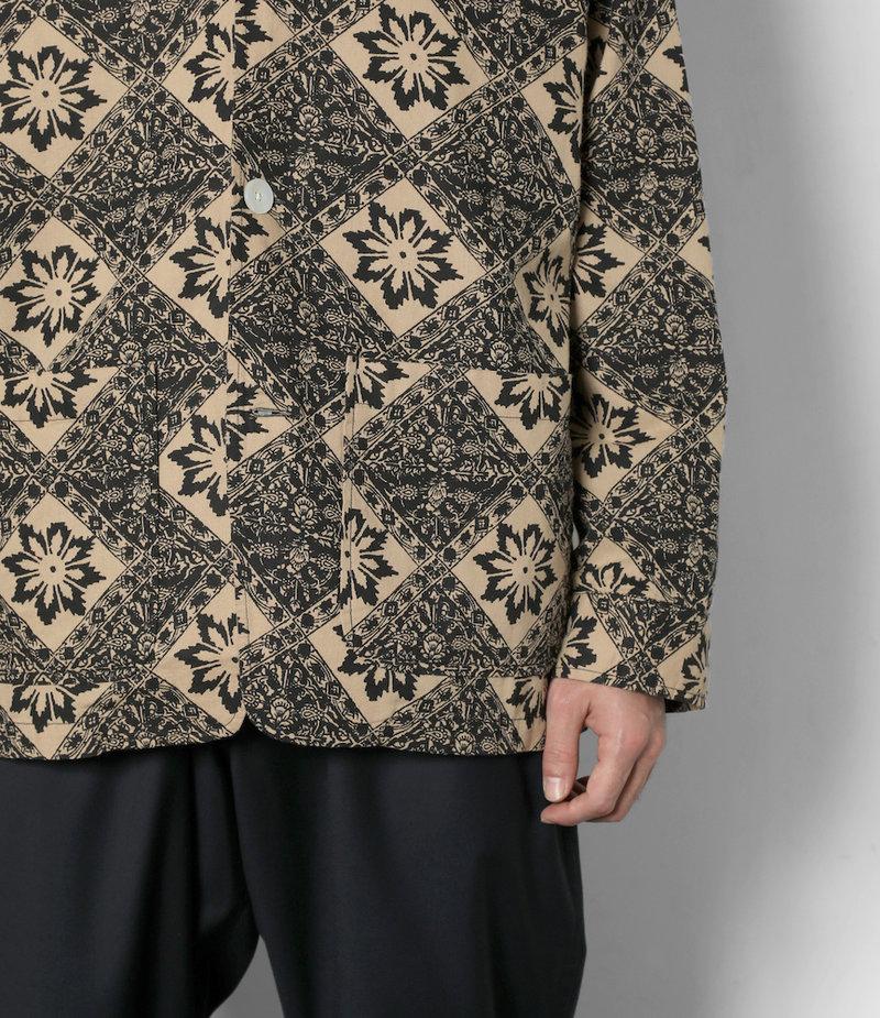 South2 West8 Pen Jacket - Printed Flannel / Batik - Navy