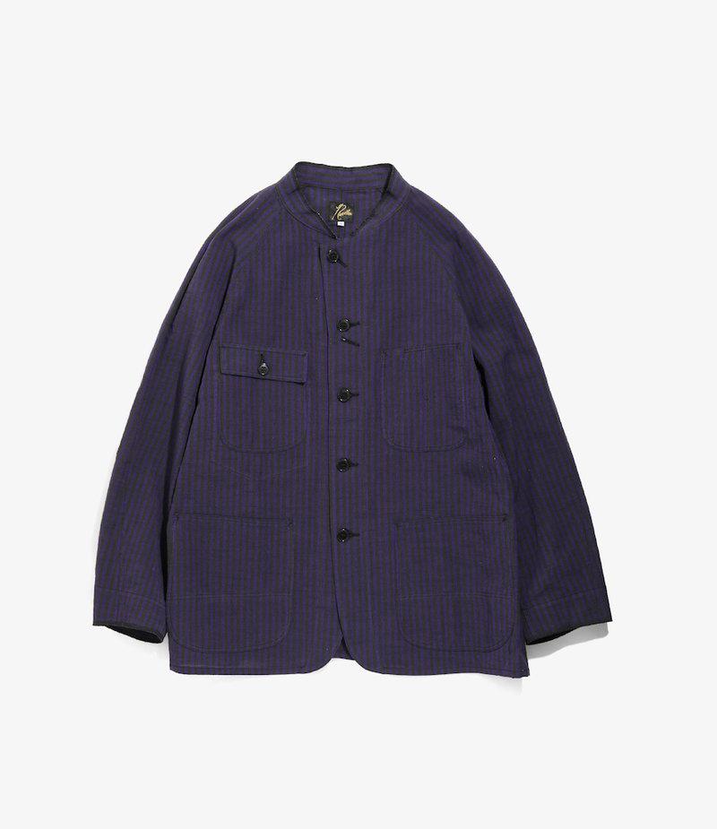 Needles Chore Coat - Aizu-Tsumugi - Purple/Black
