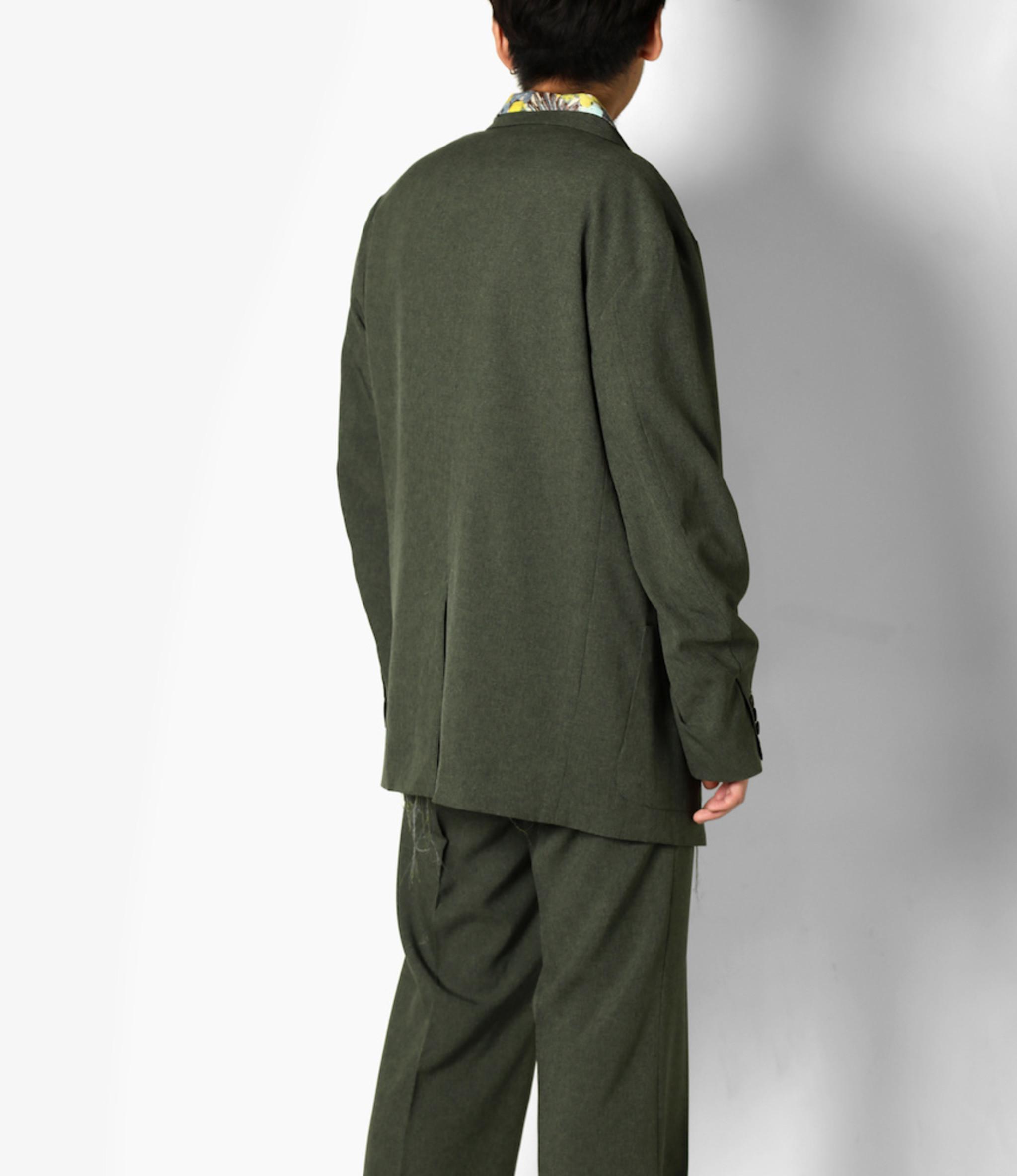 Needles Peaked Lapel 1B Jacket - Poly Chambray Cloth - Green