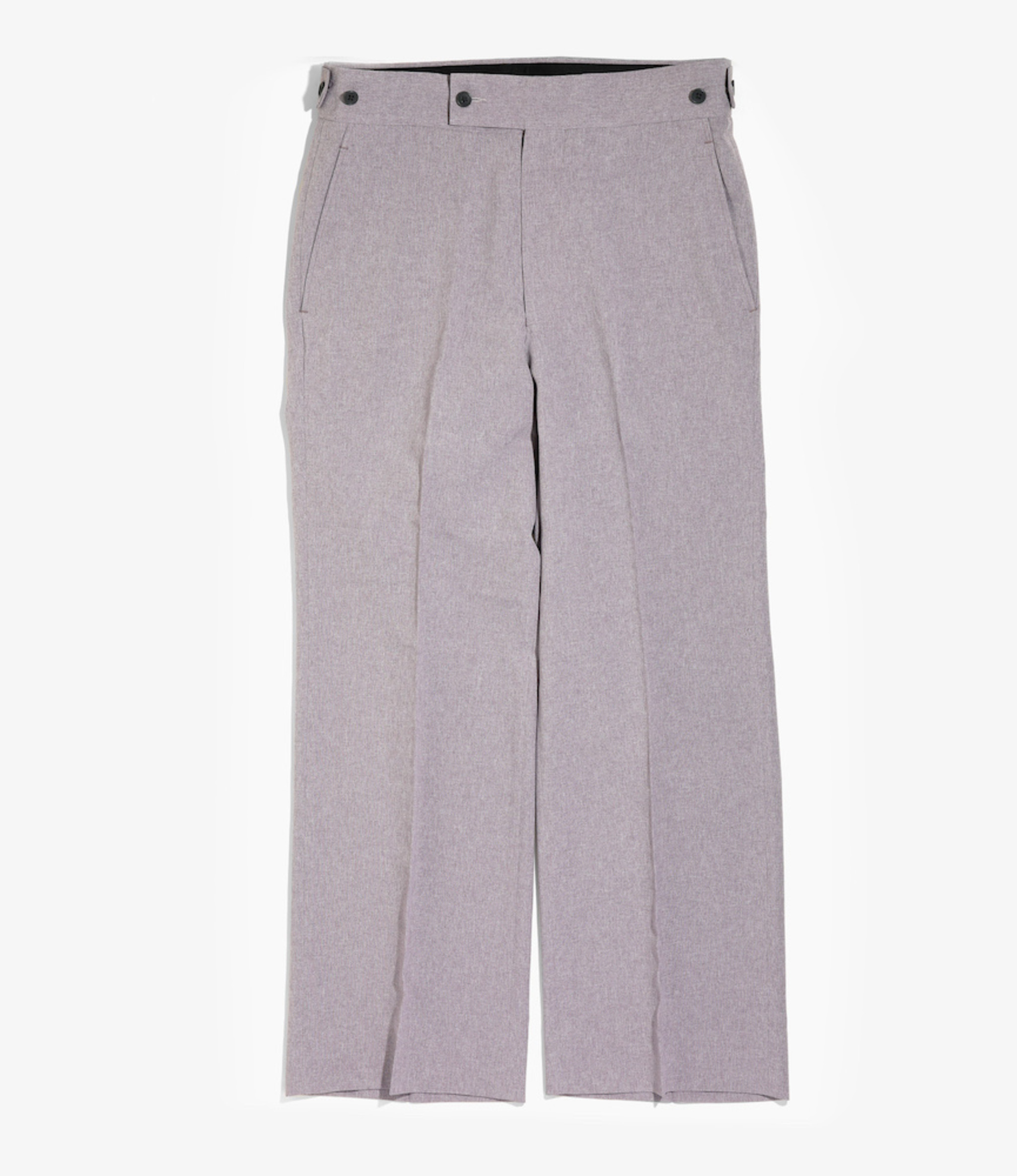 Needles Side Tab Trouser - Poly Chambray Cloth - Grey Violet