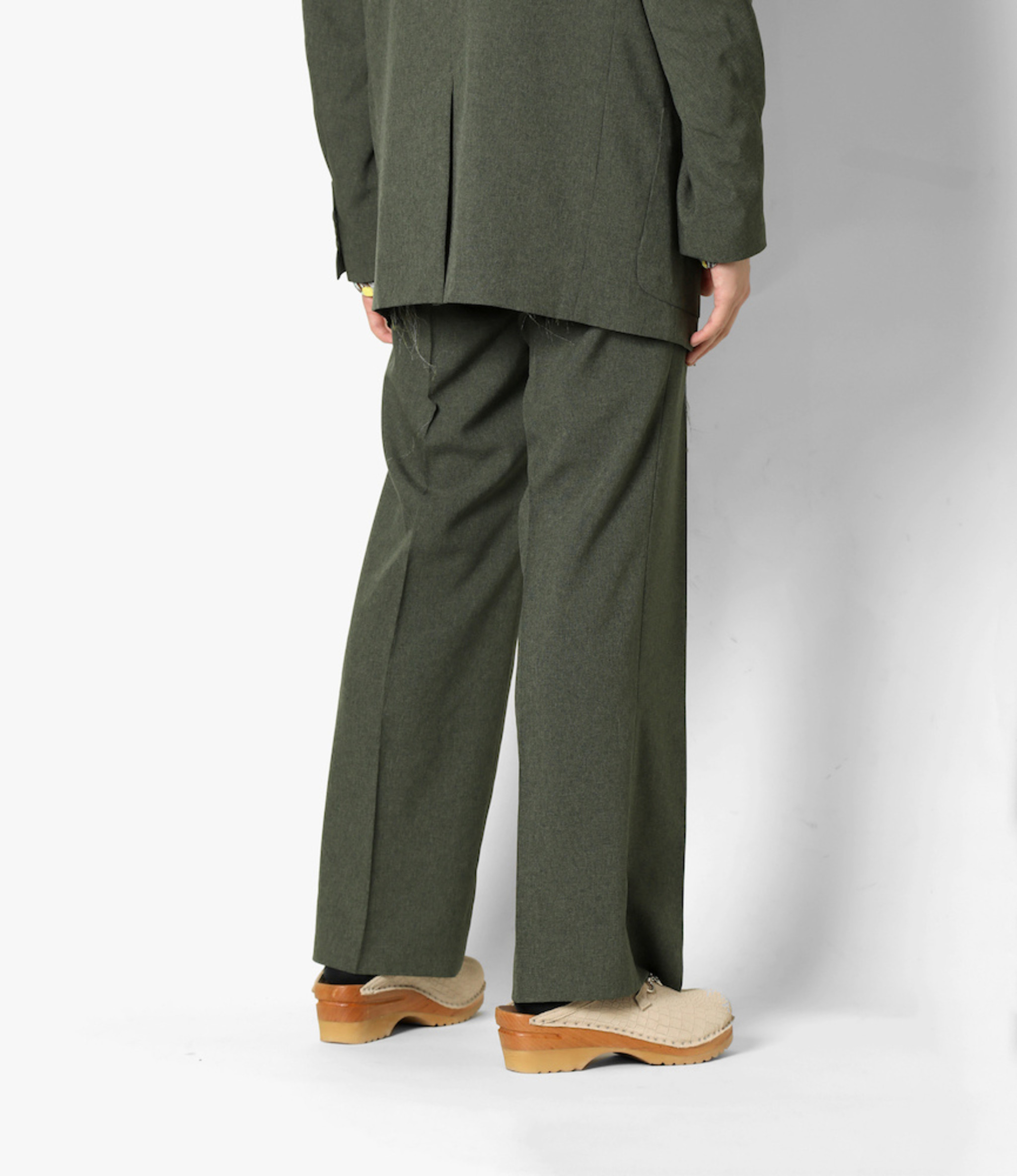 Needles Side Tab Trouser - Poly Chambray Cloth - Green