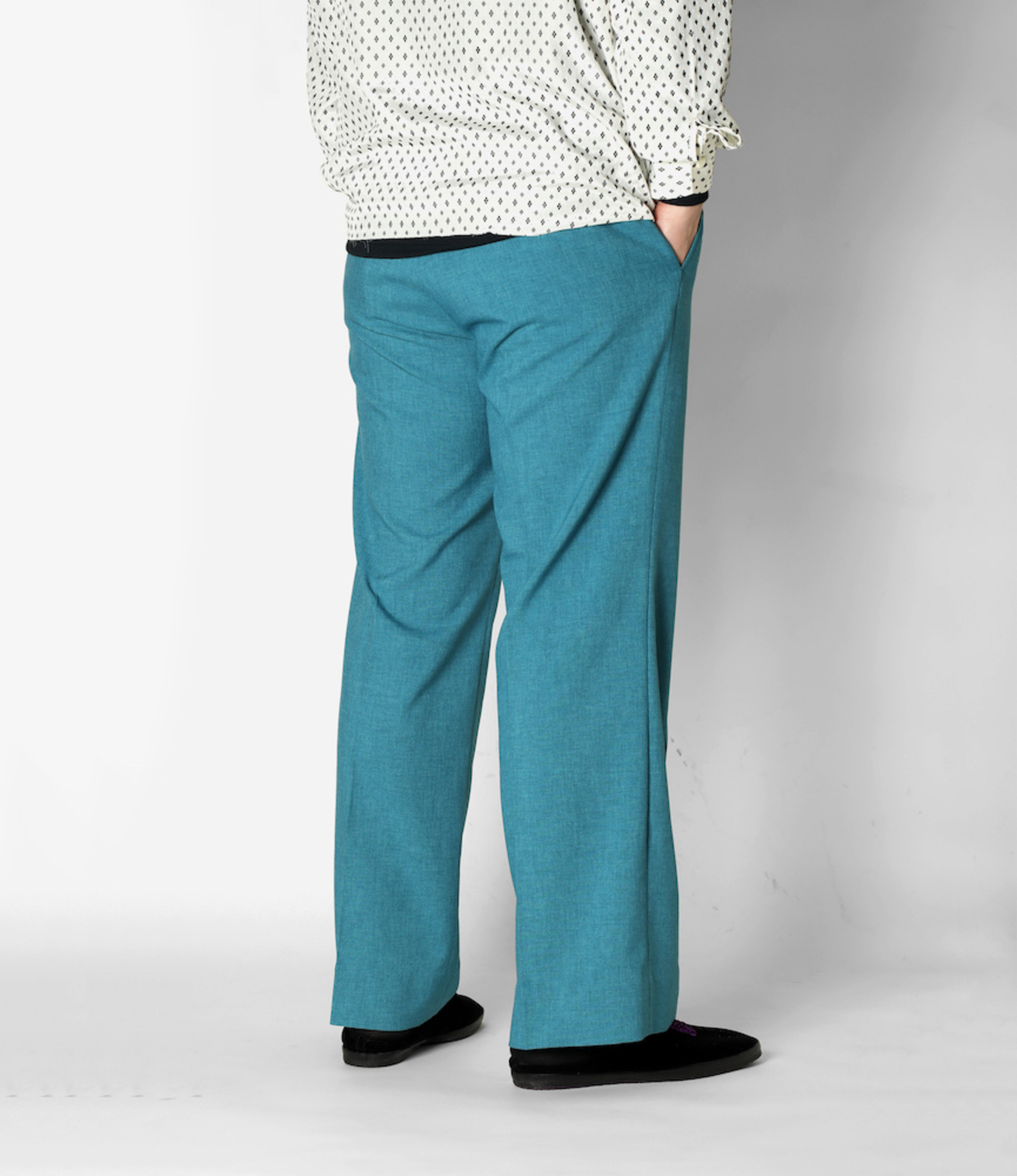 Needles Side Tab Trouser - Tropical Poly Cloth - Blue