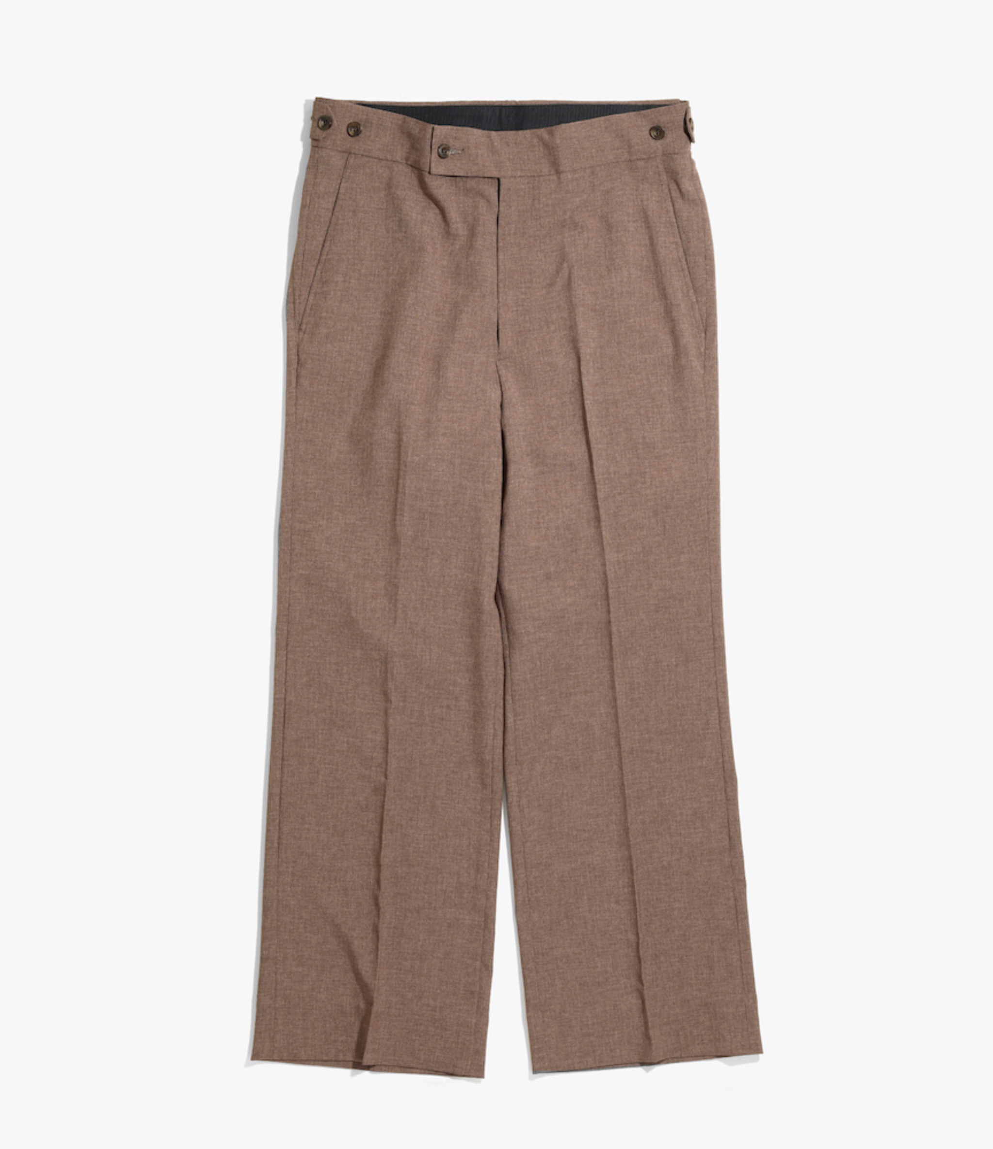 Needles Side Tab Trouser - Tropical Poly Cloth - Lt.Brown