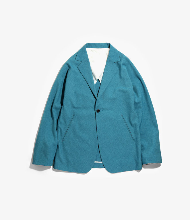 Needles Miles Jacket - Tropical Poly Cloth - Blue