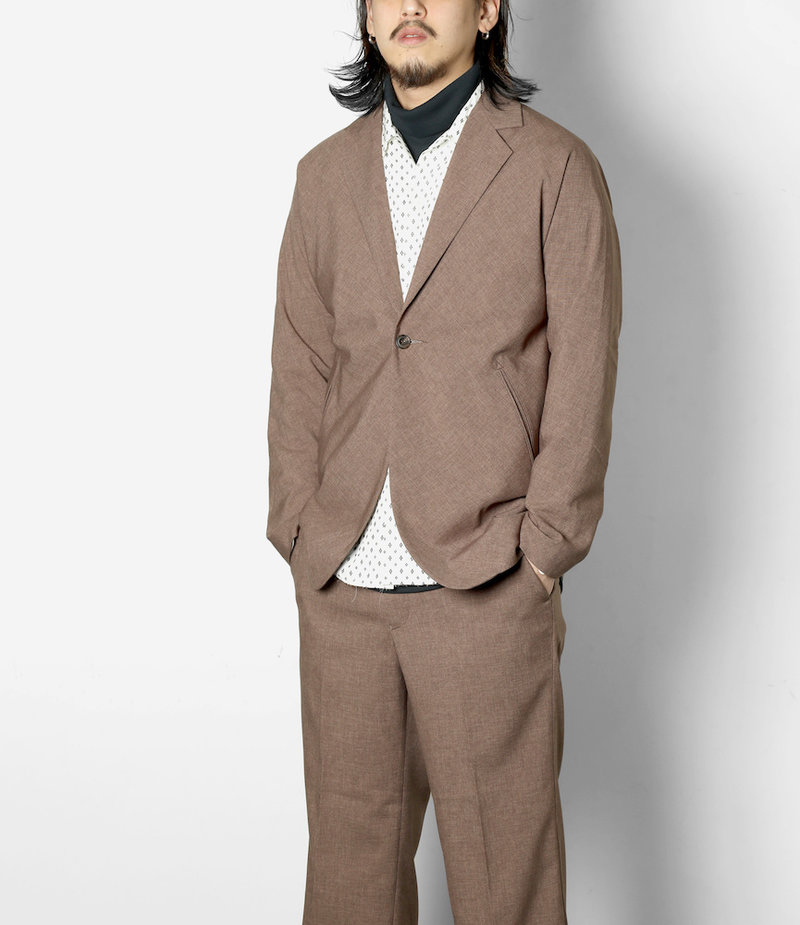 Needles Miles Jacket - Tropical Poly Cloth - Lt.Brown