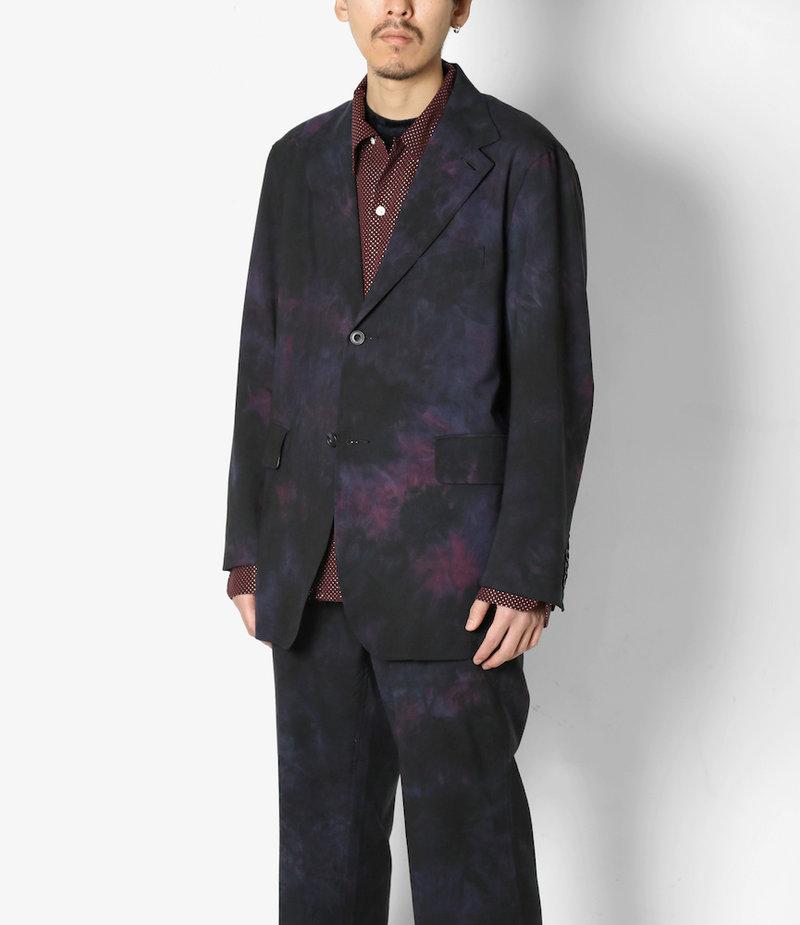 Needles 2B Jacket - Tropical Wool / Uneven Dye - Nvy/Ppl/Ccl