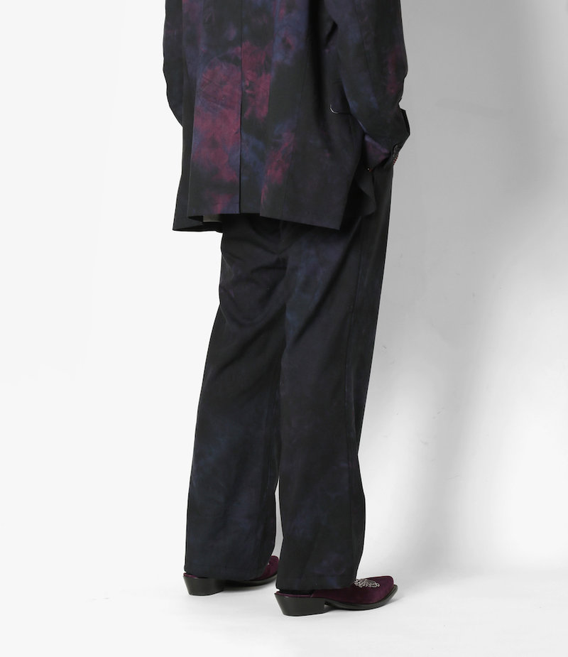 Needles String Cuff Trouser - Tropical Wool / Uneven Dye - Nvy/Ppl/Ccl