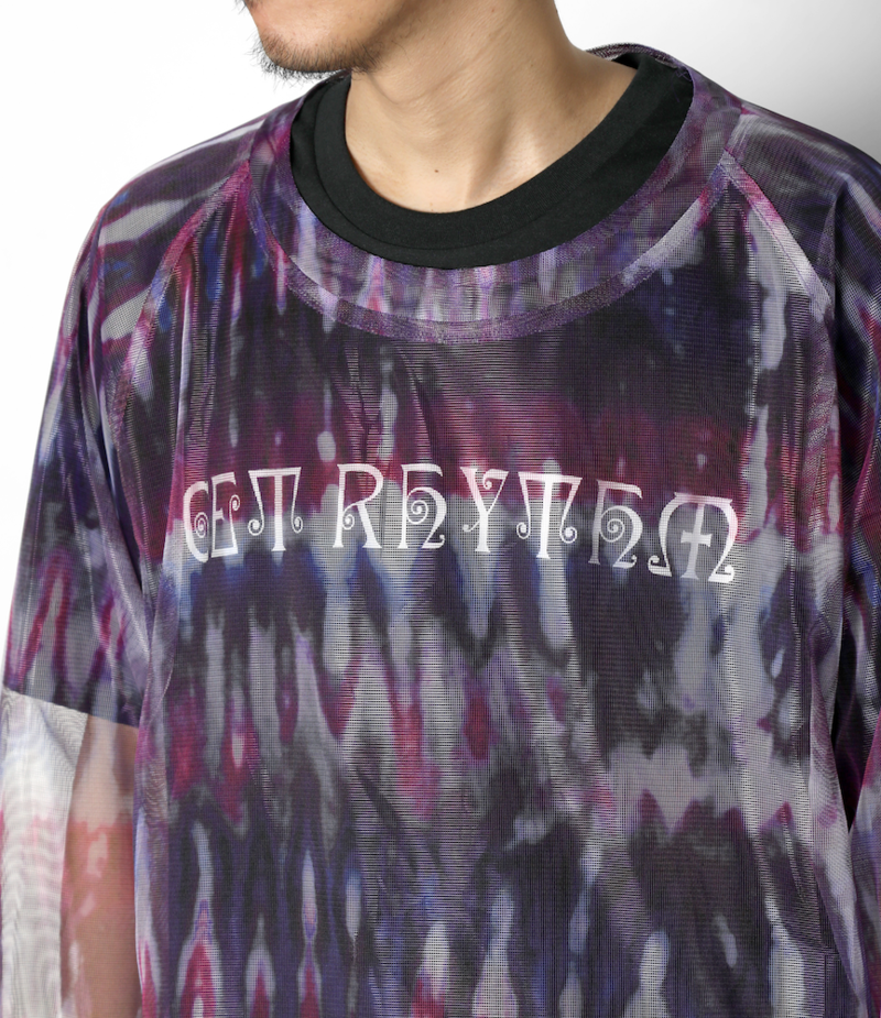 South2 West8 Bush Crew Neck Shirt - Poly Lightweight Mesh / Print - Tie Dye