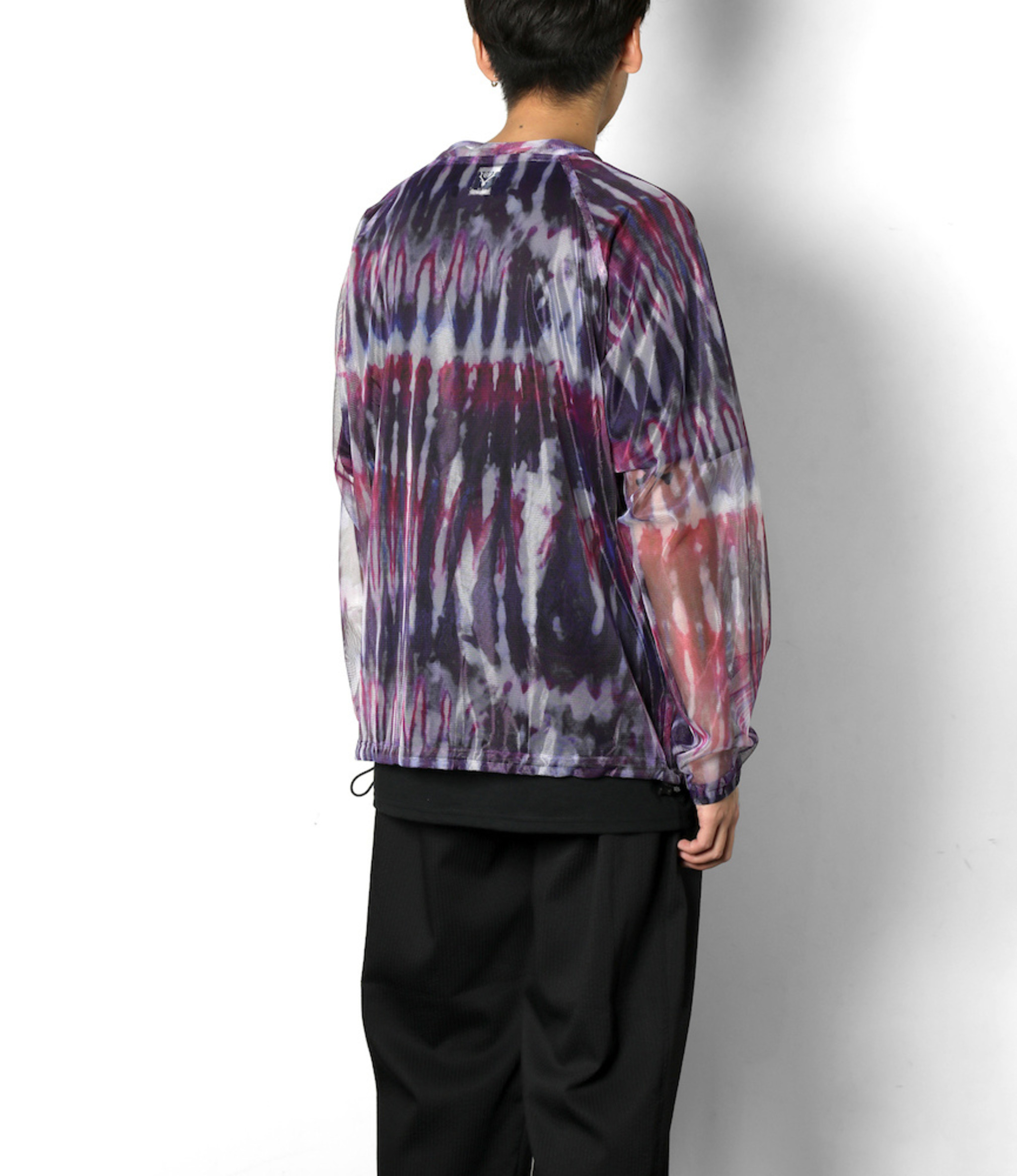 South2 West8 Bush Shirt - Poly Lightweight Mesh / Print - Tie Dye