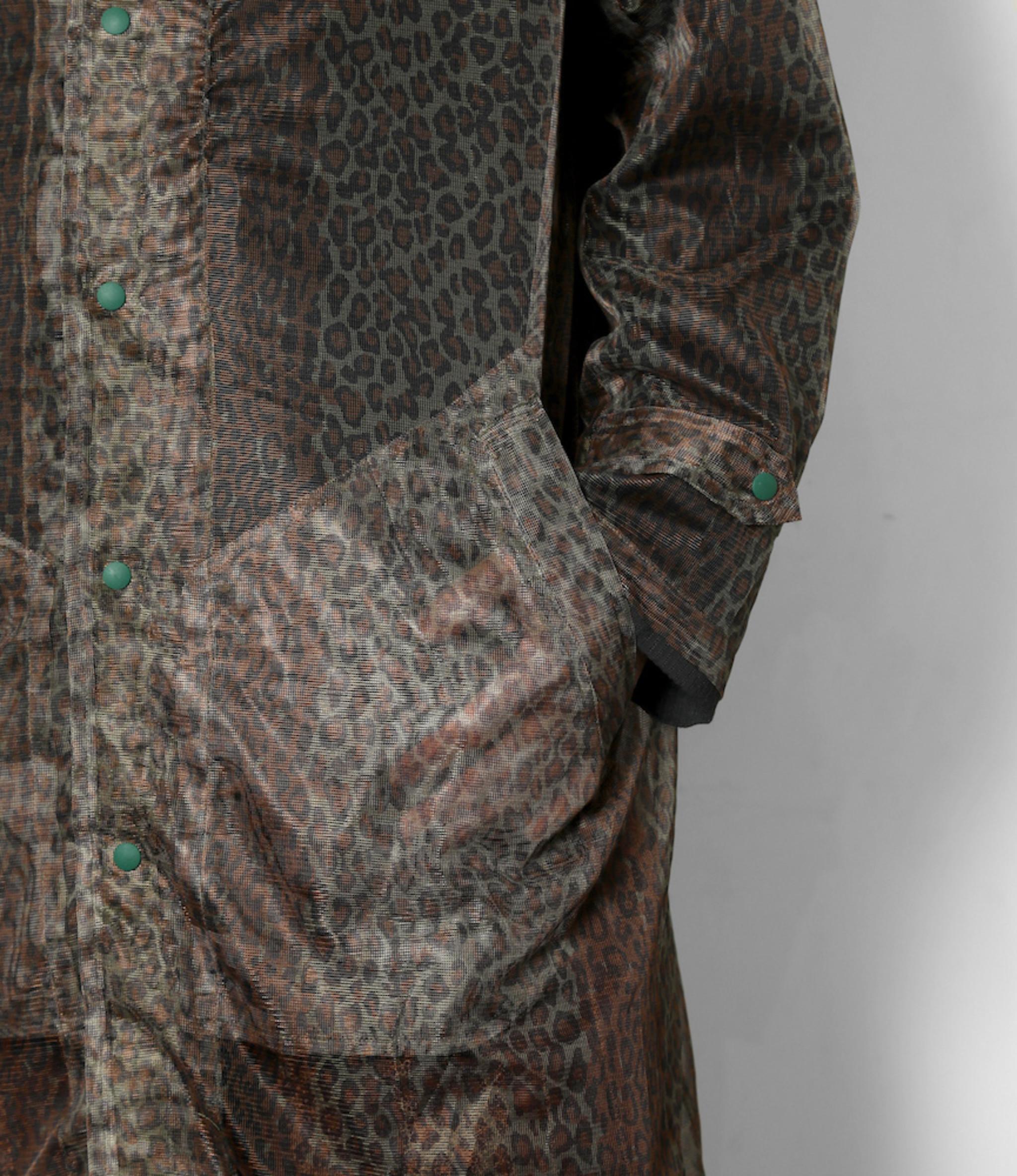 South2 West8 Bush Coat - Poly Lightweight Mesh / Print - Leopard