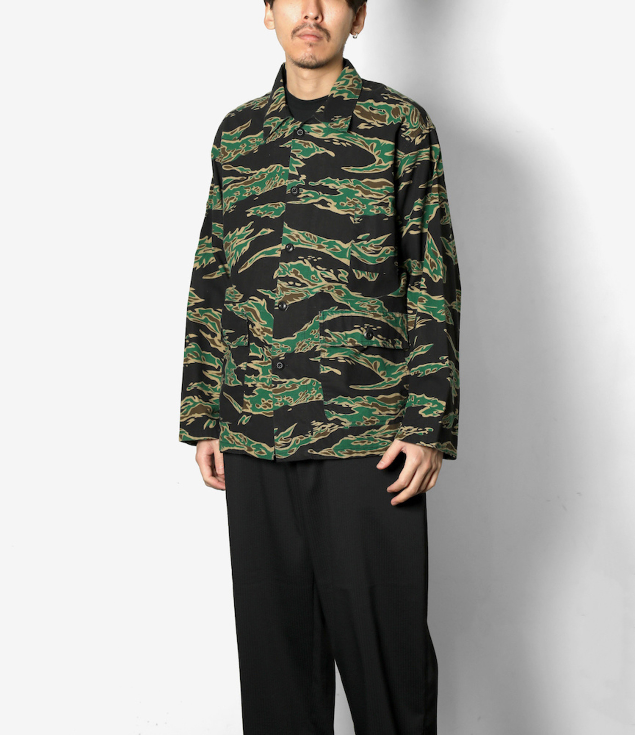 South2 West8 Hunting Shirt - Printed Flannel / Camouflage  - Tiger Camo