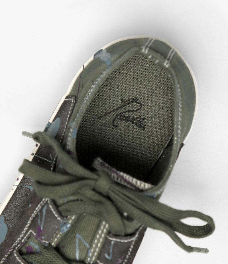 Needles Asymmetric Ghillie Sneaker / Paint -  Olive