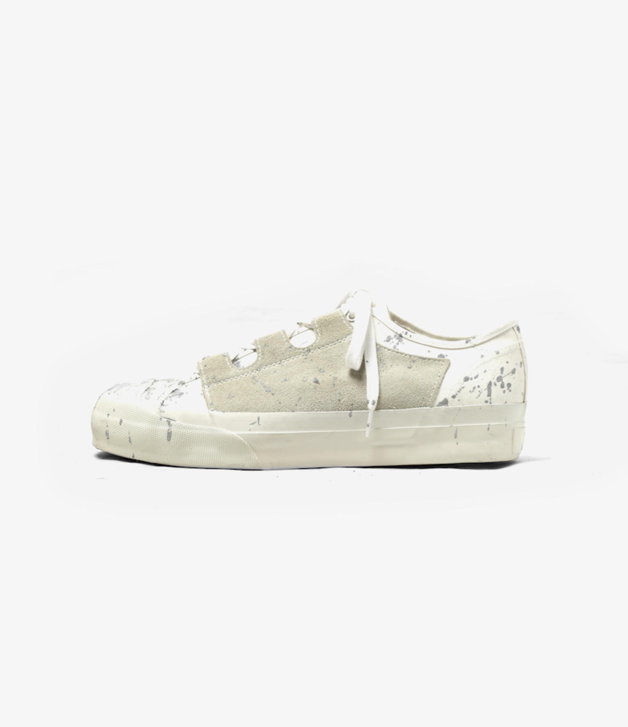 Needles Asymmetric Ghillie Sneaker / Paint - White