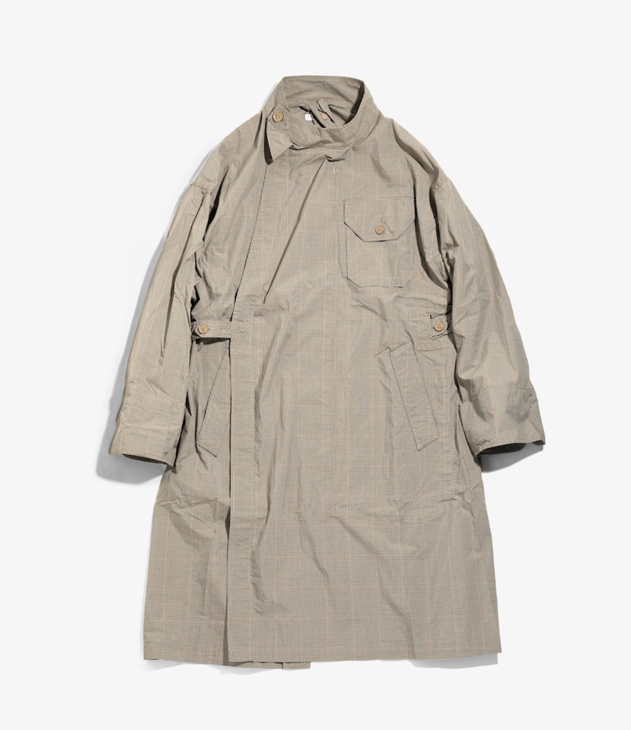Engineered Garments MG Coat - Khaki Nyco Mini Tattersall